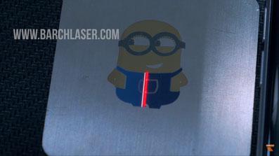 Grabado laser de color sobre aceros, Laser MOPA