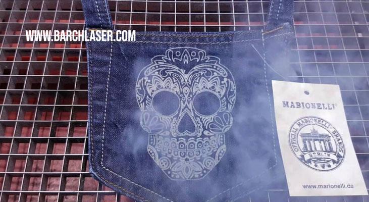 laser co2 para grabado de pantalones y ropa