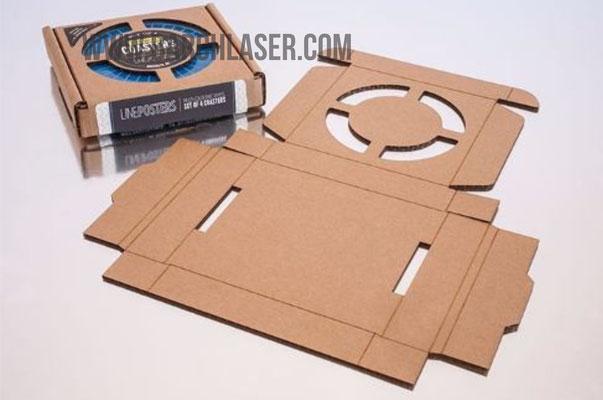 carton cortado con laser CO2