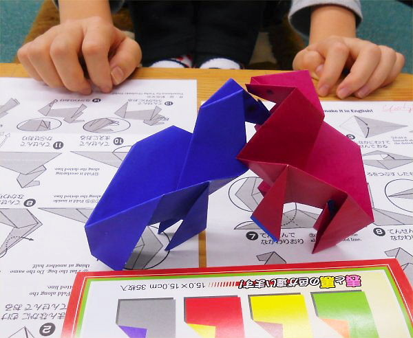 Origami-horses made on January 8th (Tue)
