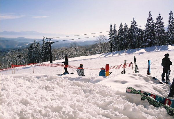 2014.01.03 赤倉観光ホテル脇のゲレンデ:The slope beside of Kanko Hotel