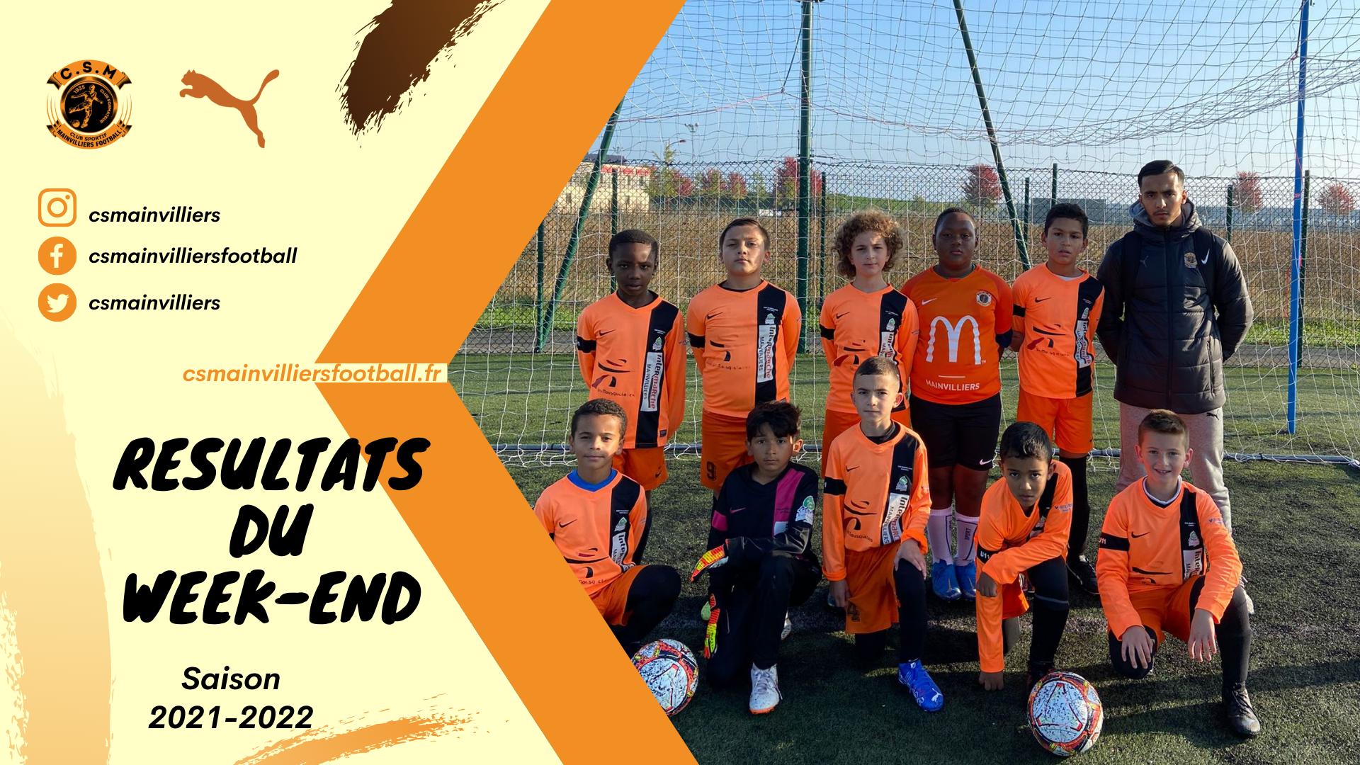 Résultats du week-end 09 & 10/10 - CS Mainvilliers Football