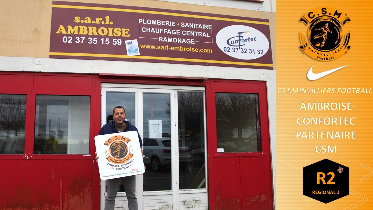 AMBROISE-CONFORTEC : Partenaire du CS Mainvilliers Football
