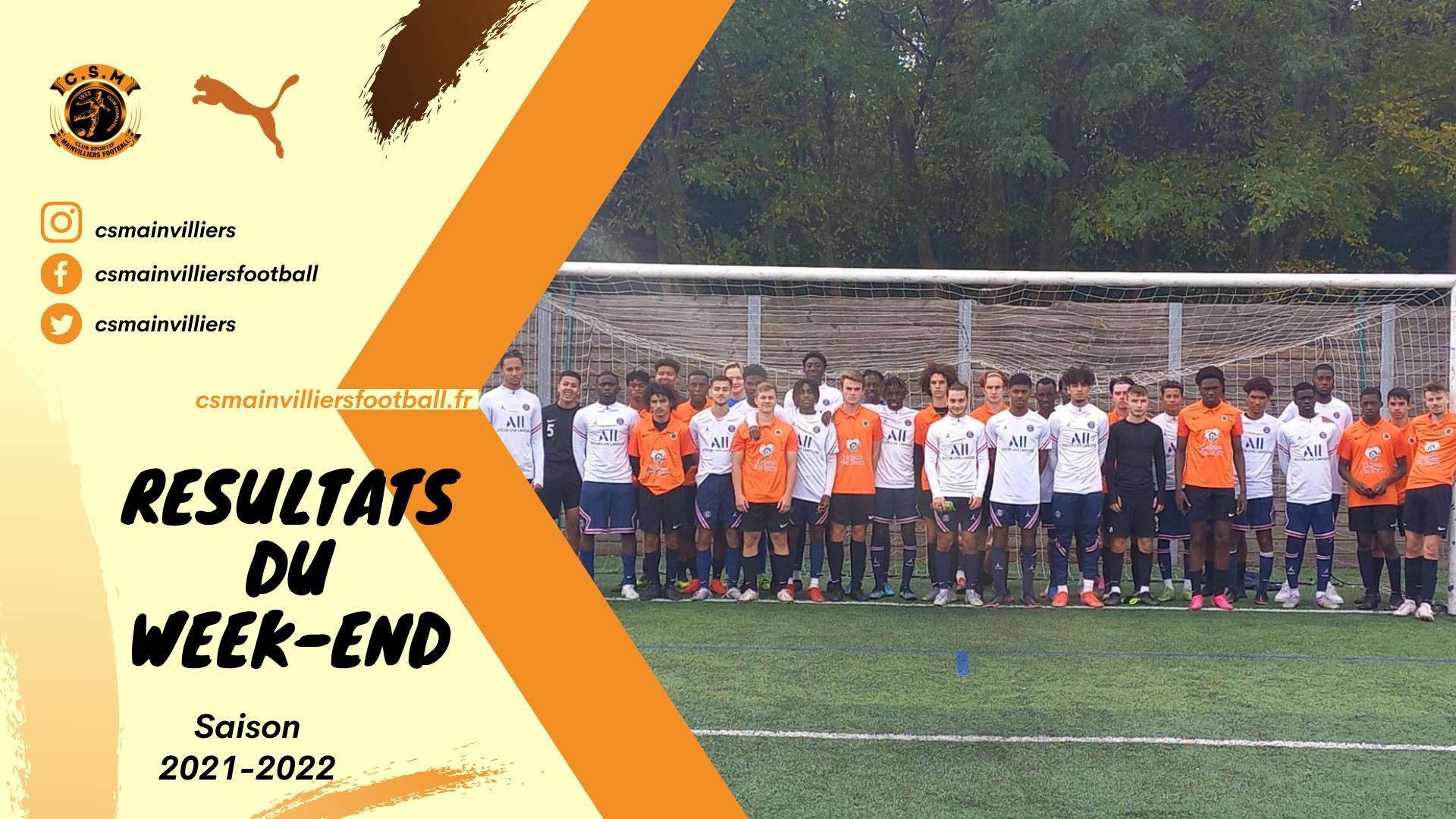 Résultats du week-end 16 & 17/10 - CS Mainvilliers Football