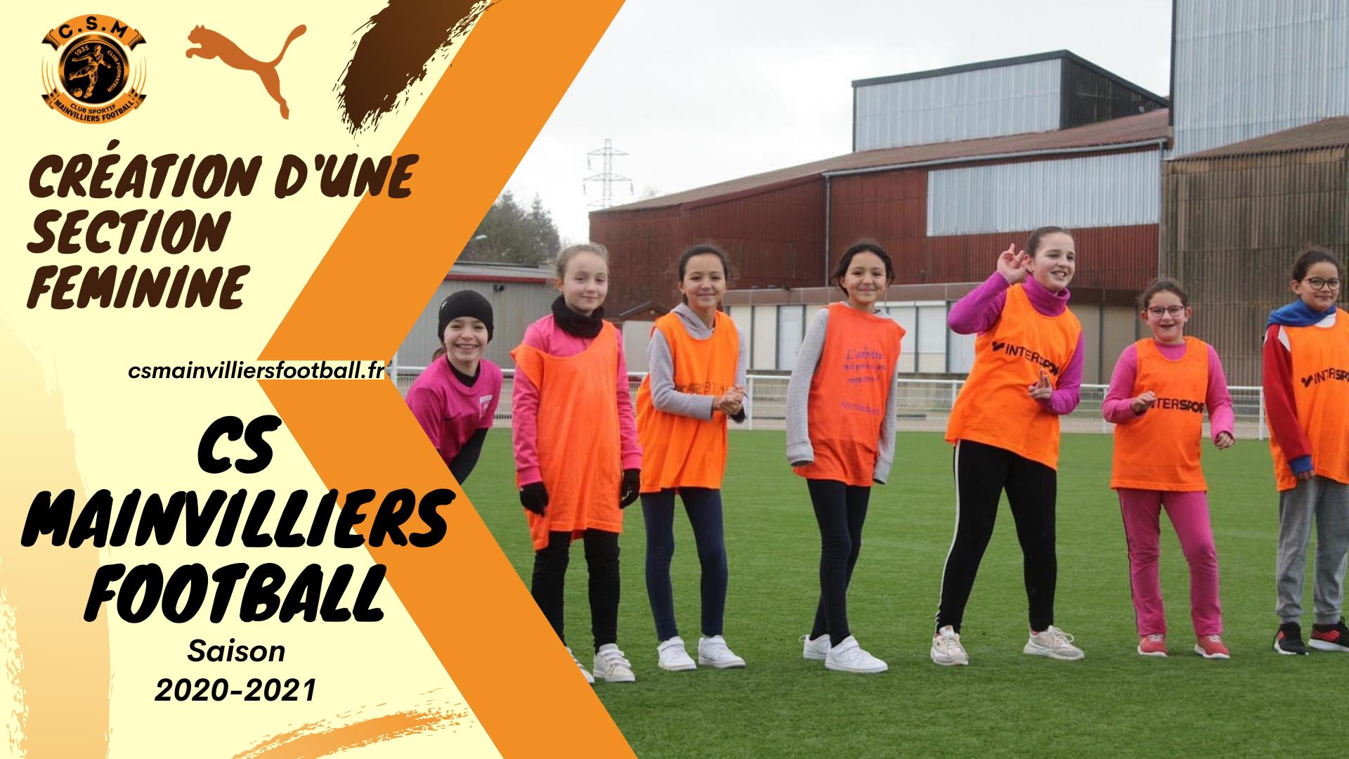 Création d'une Section Féminine - CS Mainvilliers Football