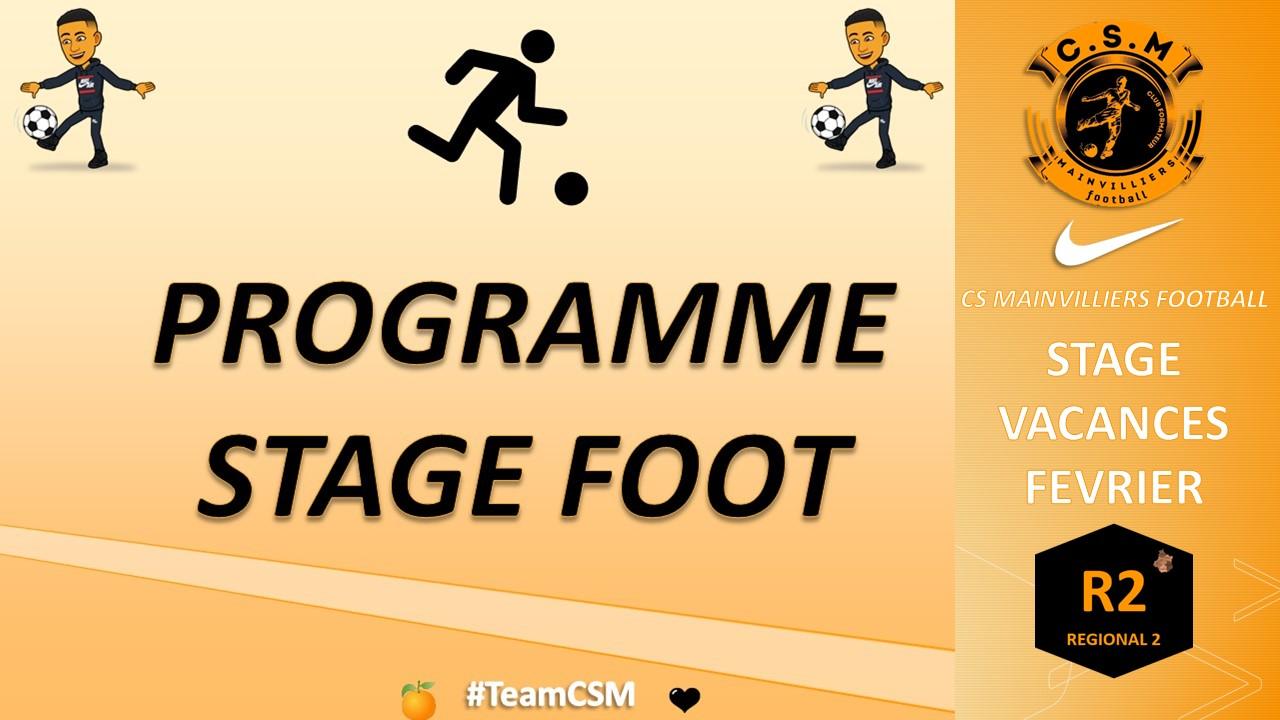 Stage Foot - Vacances de Février - CS Mainvilliers Football