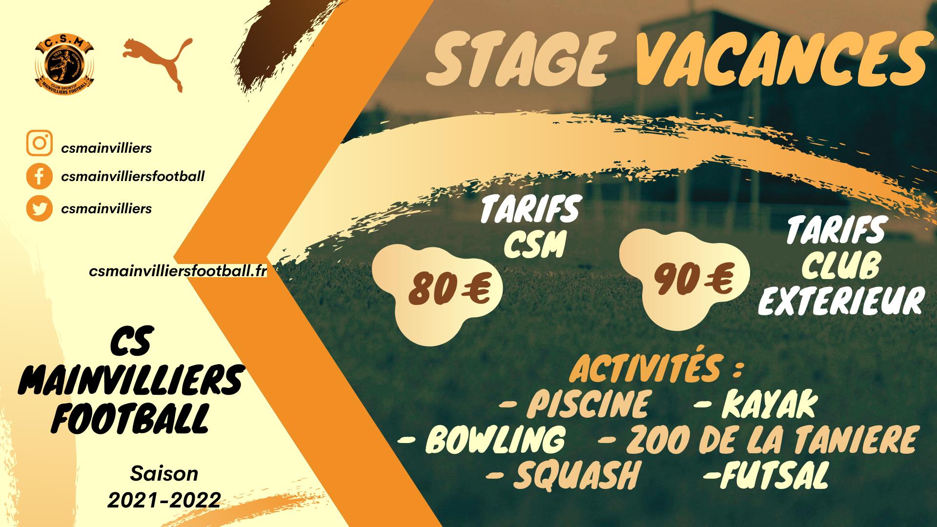 Stage Vacances Toussaint - CS Mainvilliers Football