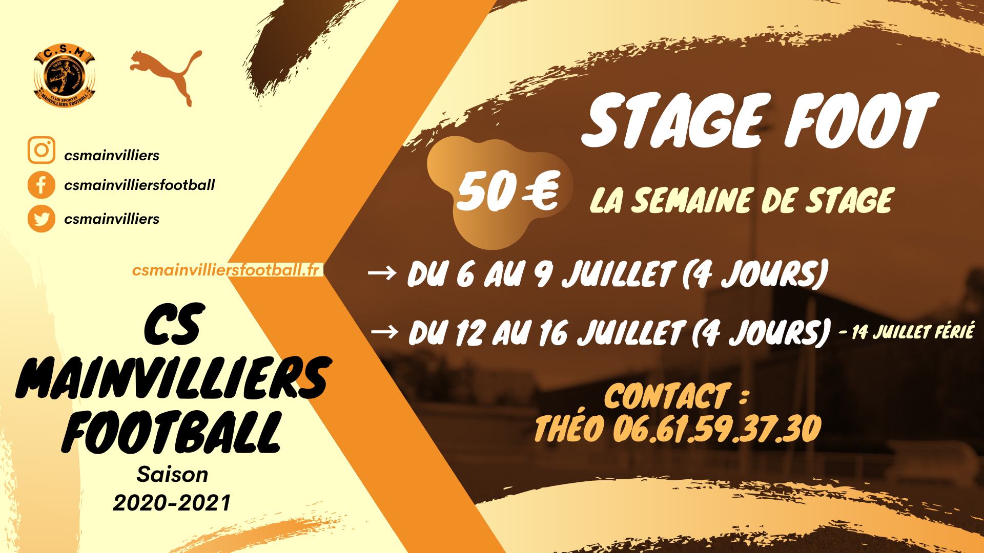 Stage Foot - Vacances d'Été - CS Mainvilliers Football