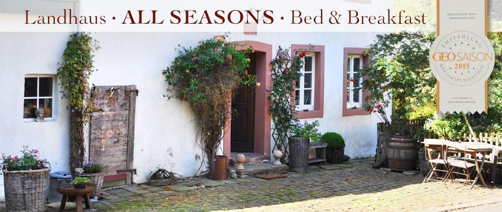 Eifel Landhaus All Seasons B&B