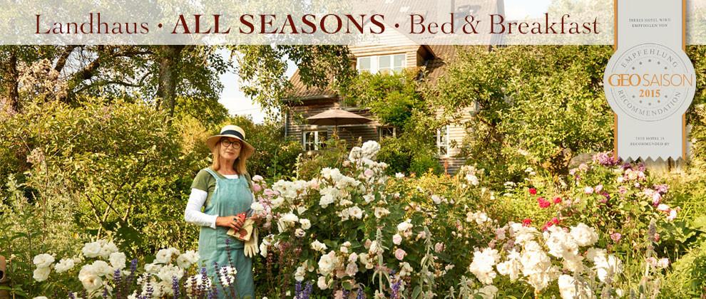 All Seasons Landhausgarten im B&B Eifel