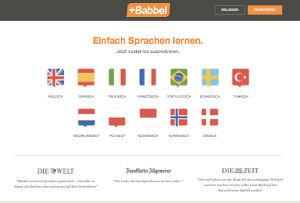 Babbel Webseite