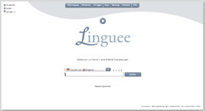 Linguee Webseite