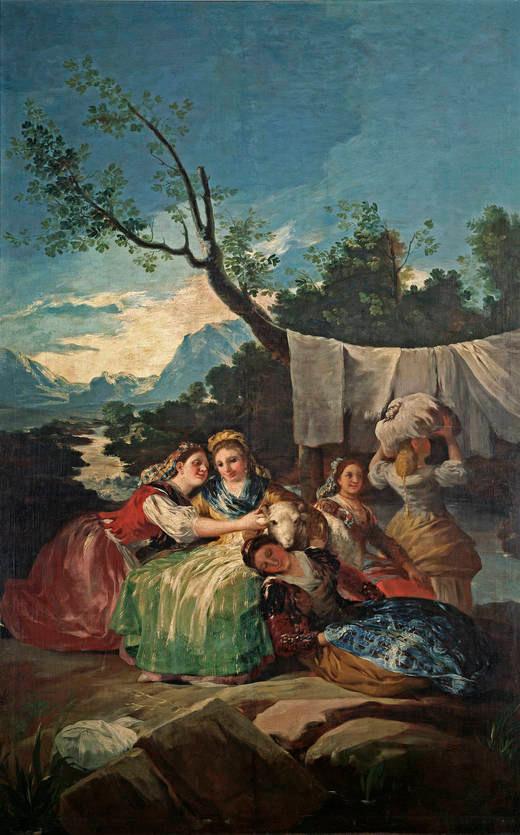 Les lavandières par Francisco de Goya