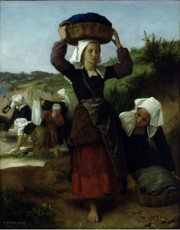 Les lavandières de Fouesnant par William Bouguereau