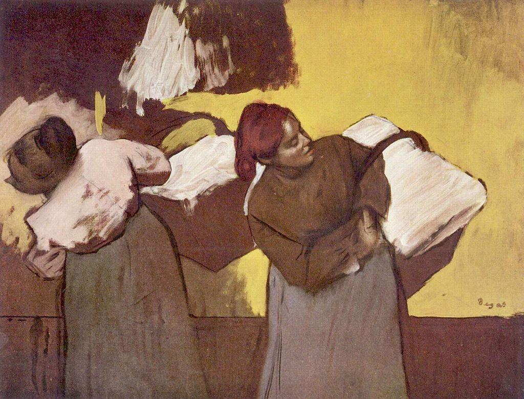 Les lavandières par Edgar Degas