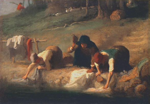 Les lavandières par Jean-François Millet