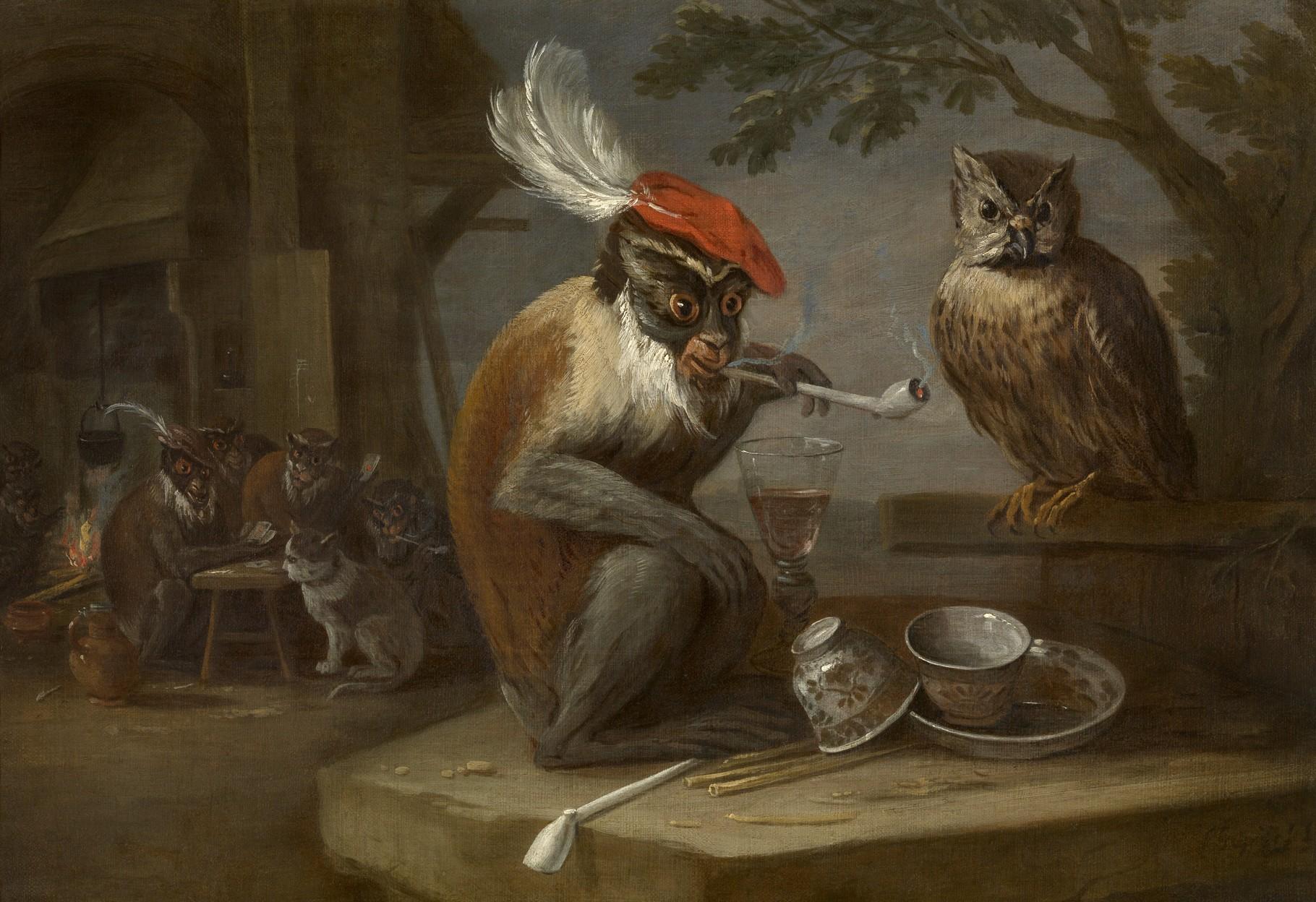 Singerie par David Teniers