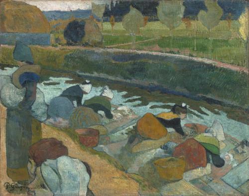 Les lavandières par Paul Gauguin