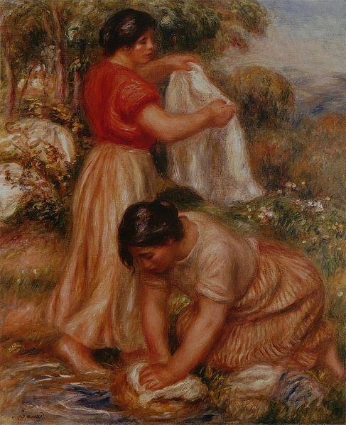 Les laveuses par Auguste Renoir