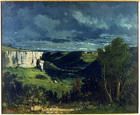 La vallée de la Loue par temps d'orage de Gustave Courbet