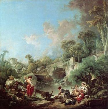 Les lavandières par François Boucher