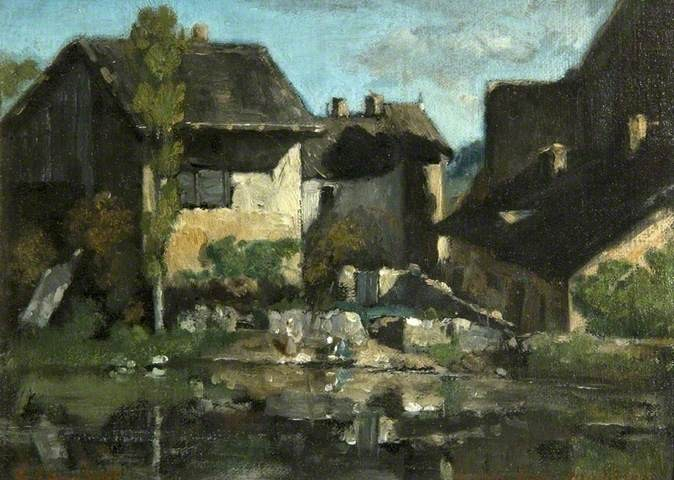Les lavandières par Gustave Courbet