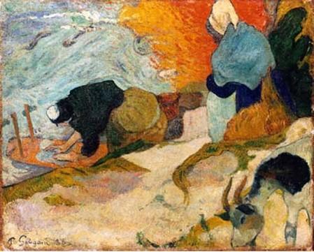 Les lavandières à Arles par Paul Gauguin
