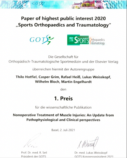 """Paper of highest public interest 2020"" der GOTS"