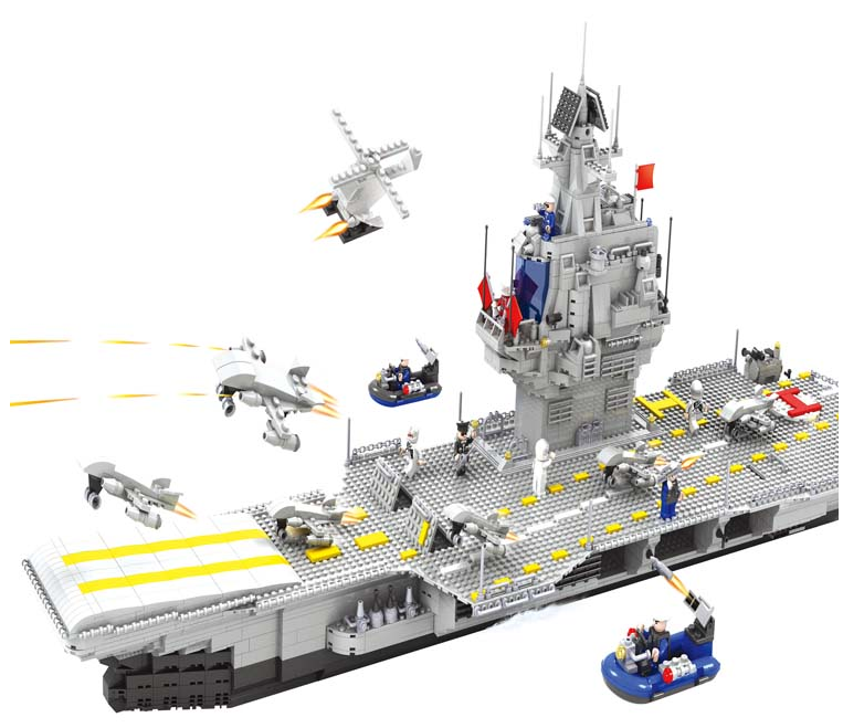 loongon aircraft carrier building bricks blocks lego compatible