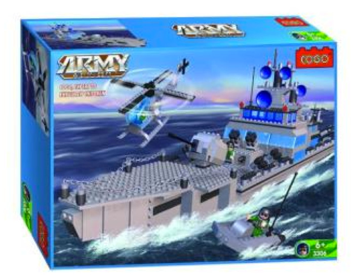 Cogo building bricks blocks aircraft carrier lego compatible
