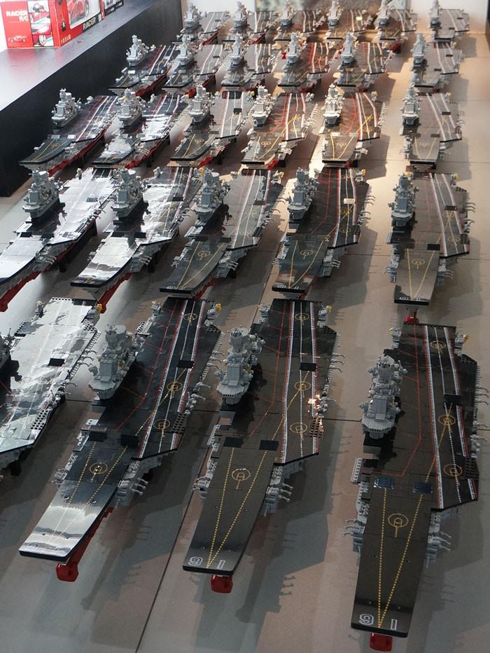 Sluban building bricks aircraft carrier lego compatible