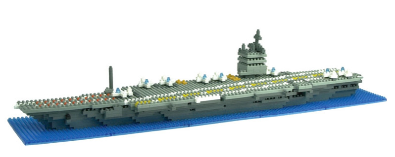 nanoblock aircraft carrier building bricks lego compatible