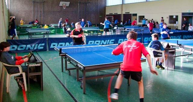 Vor dem Corona-Virus wurde in der Bliesransbacher Schulturnhalle fleißig Tischtennis gespielt.