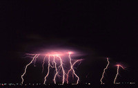 Bolts from beyond. Radio pulses from thunderstorms might indicate that lightning is triggered by cosmic rays. Credit: NOAA Photo Library, NOAA Central Library; OAR/ERL/National Severe Storms Laboratory (NSSL)