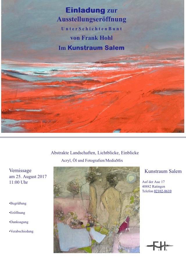 UnterSchichtenBunt, Vernissage 2017
