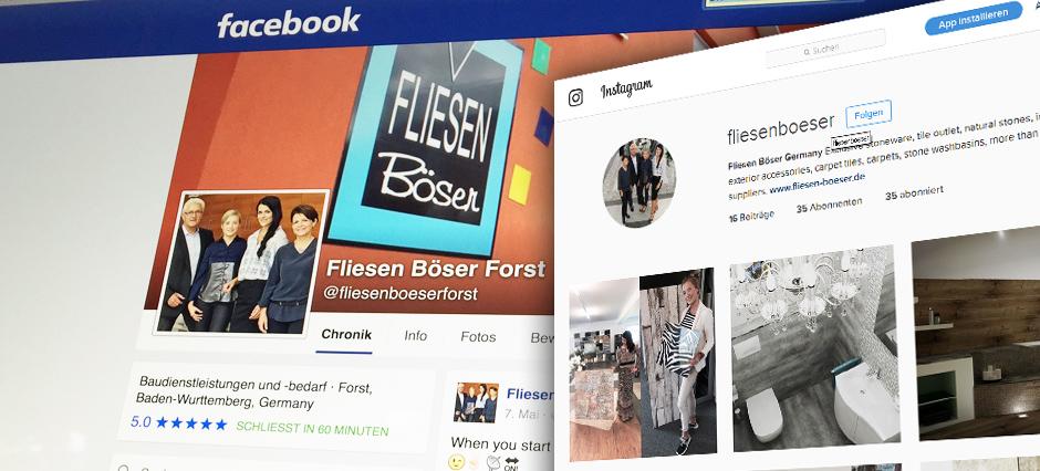 Social Media Fliesen Böser Forst