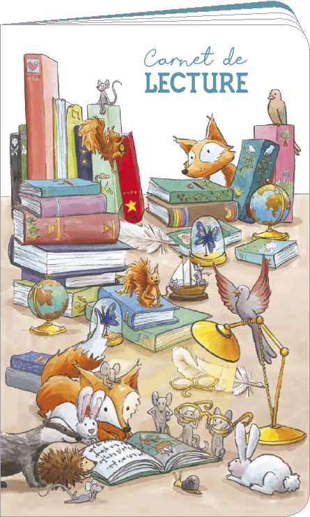 Carnet de lecture illustré par Sophie TURREL
