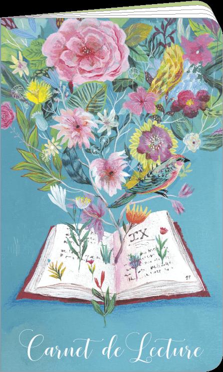 Carnet de lecture illustré par Izou
