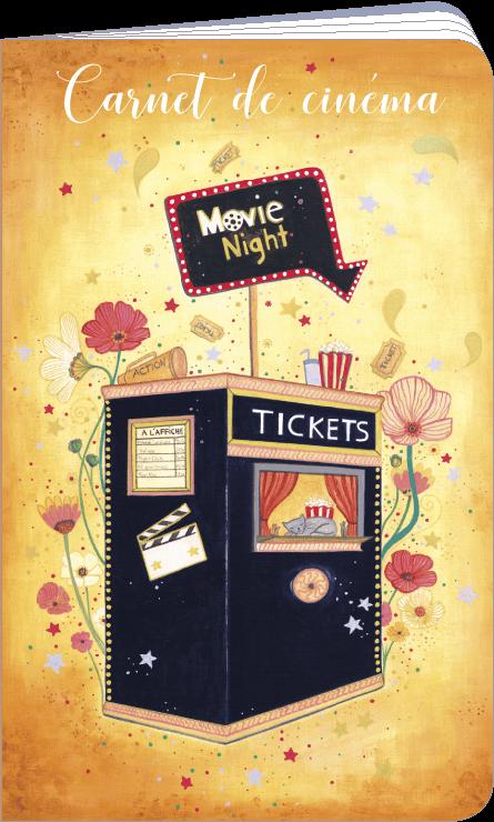 Carnet de cinéma et séries télé illustré par Jehanne WEYMAN