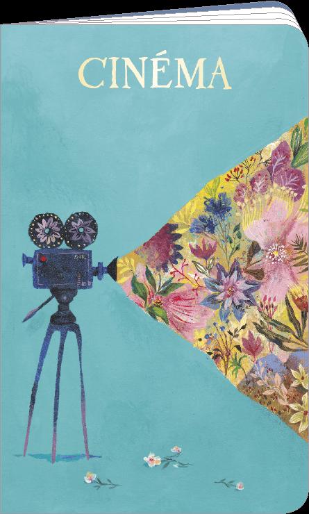 Carnet de cinéma et séries télé illustré par Izou