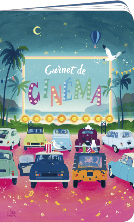 Carnet de cinéma et séries télé illustré par Audrey BUSSI et Elisa ROCHETAIN