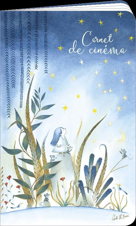 Carnet de cinéma et séries télé illustré par Cécile Lebrun