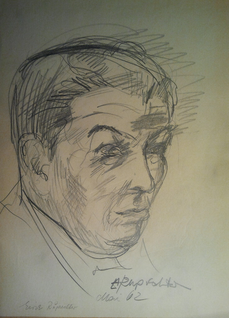 Viktor Matejka 1901 - 1993, Künstlerskizzen im Gästebuch (Erich Ruprechter 1962)