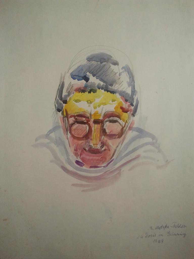 Gerda Matejka-Felden 1901 - 1984  Tempera/Papier