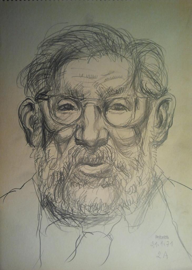 Viktor Matejka 1901 - 1993, Künstlerskizzen im Gästebuch (Pakosta 1971)