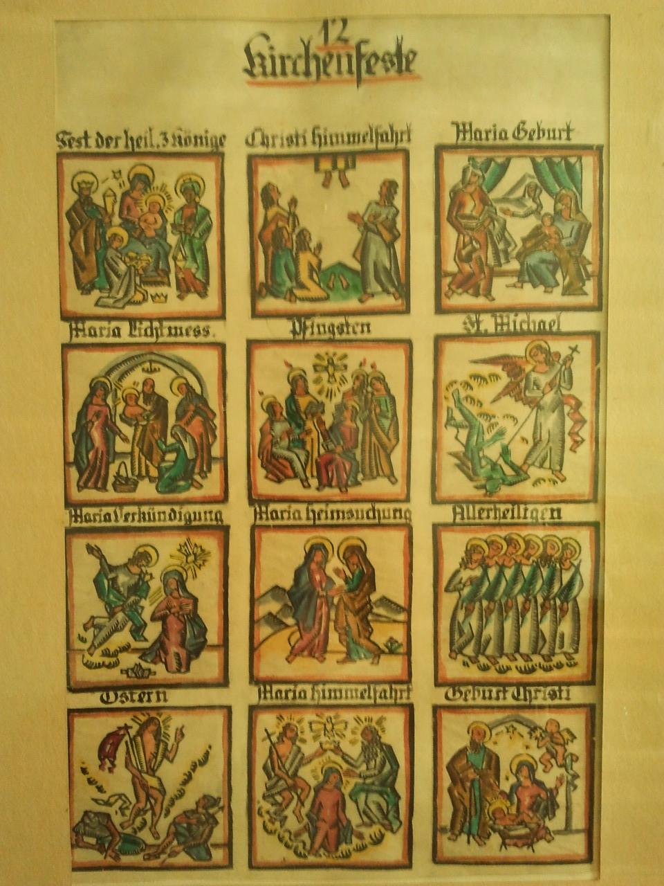 12 Kalenderblätter für Klosterneuburger Kalender
