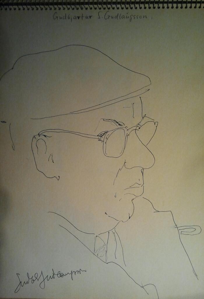 Viktor Matejka 1901 - 1993, Künstlerskizzen im Gästebuch (Gudbjartur S. Gudlaugsson 1962)