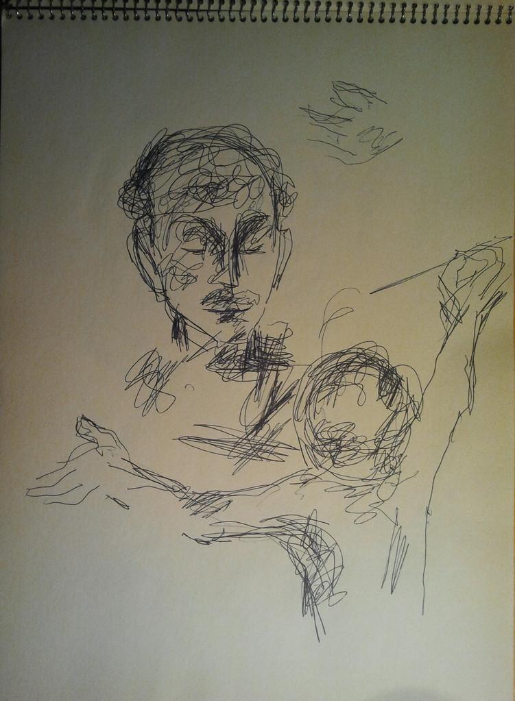 Viktor Matejka 1901 - 1993, Künstlerskizzen im Gästebuch