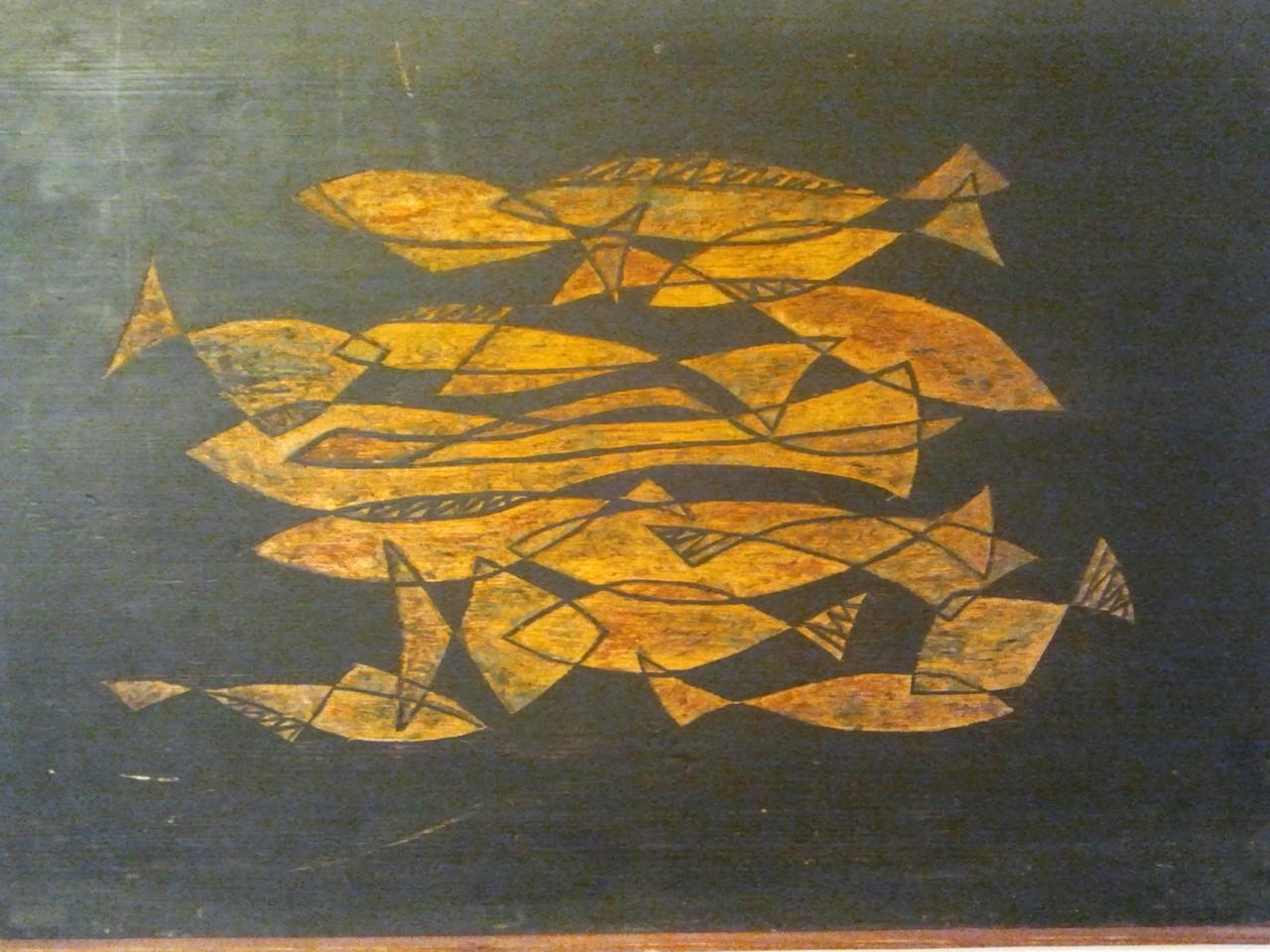Fischschwarm Wachsenkaustik - Privatbesitz