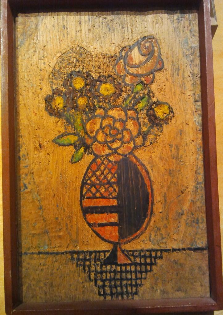 Blumenvase, Wachsenkaustik